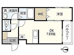 MOVE府中町浜田弐番館 3階1DKの間取り