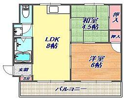 ラガール深江[101号室]の間取り