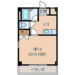 マンションニューハマIII B棟[3階]の間取り