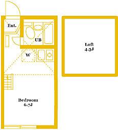 ユナイトステージ四季美台[2階]の間取り