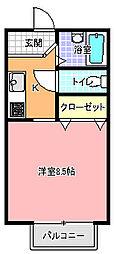 ハイツ・ビクトリア A棟[203号室]の間取り