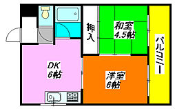 テラノ・コーポ 306号室[3階]の間取り