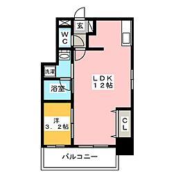 ウインステージ箱崎[10階]の間取り