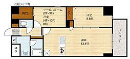 Domizil FUKU(ドミツィール福)[8階]の間取り