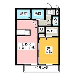 カーサボナールA[2階]の間取り
