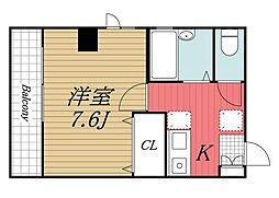千葉県佐倉市王子台1丁目の賃貸マンションの間取り