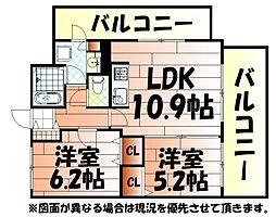 ルネッサンス21小倉東[405号室]の間取り