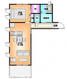 徳島県徳島市国府町中の賃貸アパートの間取り