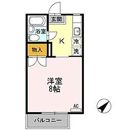 香川県高松市東ハゼ町の賃貸アパートの間取り