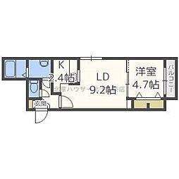 ラ・コーザN10[4階]の間取り