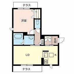 兵庫県西宮市門戸荘の賃貸アパートの間取り