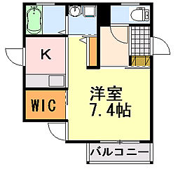 千葉県千葉市中央区白旗3丁目の賃貸アパートの間取り