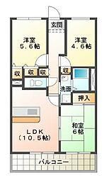 学園シティーコート[7階]の間取り