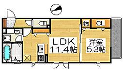 ロイヤルガーデン三国ヶ丘壱番館[3階]の間取り
