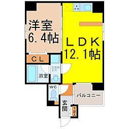 Manoir nakata(マノワール仲田)[4階]の間取り