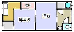 寿荘[23号室]の間取り