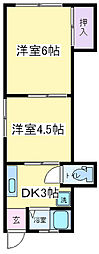 大阪府大阪市住吉区長居2丁目の賃貸マンションの間取り