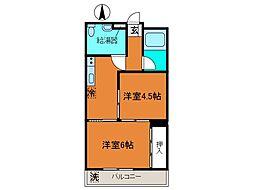 ちひろマンション[3階]の間取り