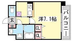 ウォームスヴィル神戸元町JP[202号室]の間取り