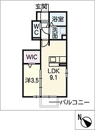 仮)D−room小牧市舟津[1階]の間取り