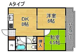 グラシオコハマ[1階]の間取り
