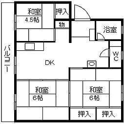 第一松尾ビル[504号室]の間取り