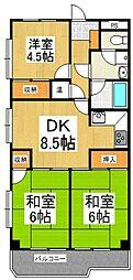 内田マンション[5階]の間取り