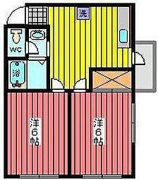 サクシードマンション[4階]の間取り