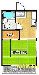東京都杉並区高円寺北2丁目の賃貸アパートの間取り