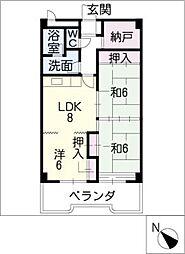 第2大嶽ビル[7階]の間取り