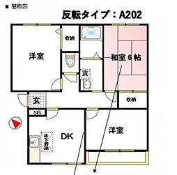 中野ハイツA[202号室]の間取り