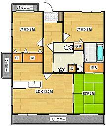 Peace Full N-2[2階]の間取り