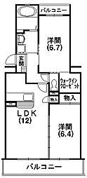 リブラ[2階]の間取り