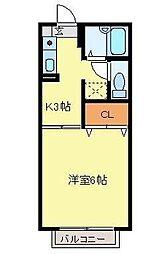 アーバンコーポラス2 久喜駅まで徒歩7分・駅近物件です[1階]の間取り