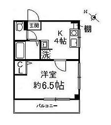神奈川県横浜市保土ケ谷区天王町1丁目の賃貸マンションの間取り