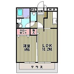 プチグリーン[1階]の間取り