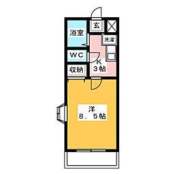 SUNNY PLACE妙興寺[3階]の間取り