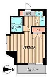 東京都港区白金4丁目の賃貸マンションの間取り