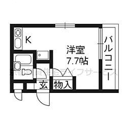 DETOM−1東福寺214[2階]の間取り