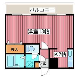 パークサイド月寒[3階]の間取り
