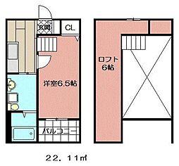 レオーネ西小倉[103号室]の間取り