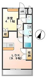 埼玉県三郷市新和5丁目の賃貸マンションの間取り
