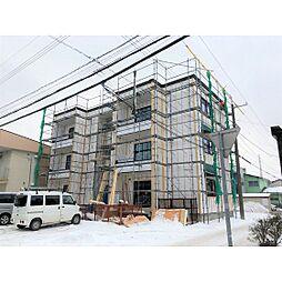 北海道苫小牧市美園町2丁目の賃貸アパートの外観