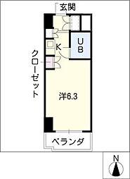 朝日プラザ名古屋ターミナルスクエア[8階]の間取り