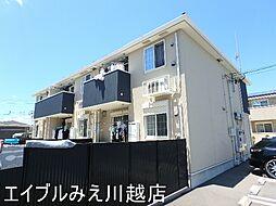 三重県四日市市西富田町の賃貸アパートの外観