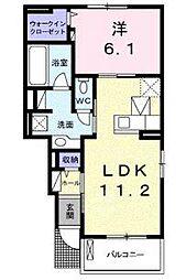 ビオーラEP水口町京町01[1階]の間取り