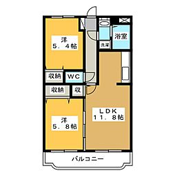 Y&Mシャルム川田[1階]の間取り