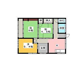 [一戸建] 静岡県富士宮市光町 の賃貸【/】の間取り