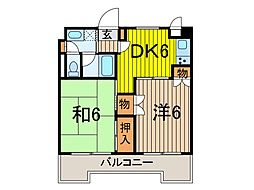 西川口パインマンション[3階]の間取り