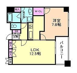 アーデンタワー福島ウエスト[3階]の間取り